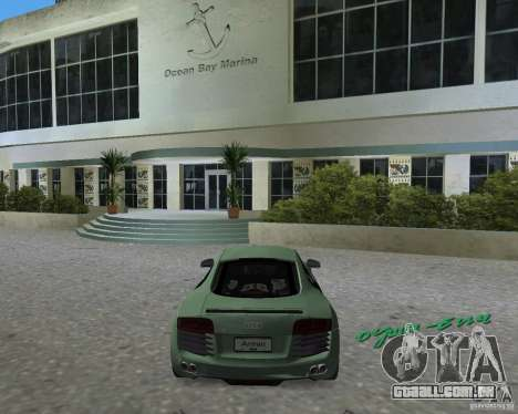 Audi R8 4.2 Fsi para GTA Vice City deixou vista