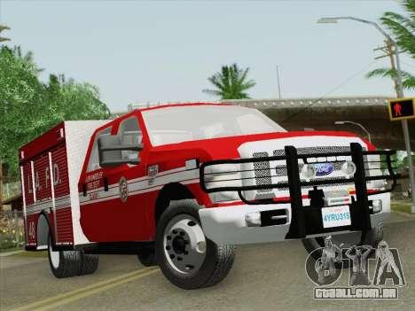 Ford F-350 Super Duty LAFD para GTA San Andreas