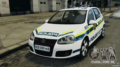 Volkswagen Golf 5 GTI South African Police [ELS] para GTA 4