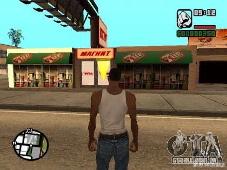 Lojas de ímã para GTA San Andreas por diante tela