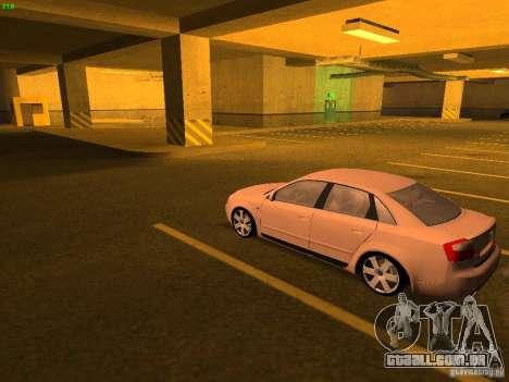 Audi S4 OEM para GTA San Andreas traseira esquerda vista