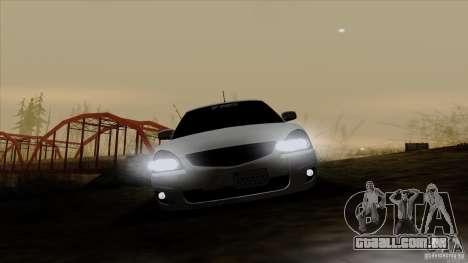 LADA 2170 Califórnia para GTA San Andreas vista interior