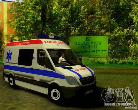 Mercedes-Benz Sprinter Baku Ambulans para GTA San Andreas esquerda vista