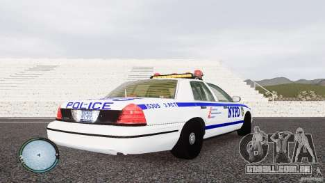 Ford Crown Victoria 2003 NYPD para GTA 4 vista direita