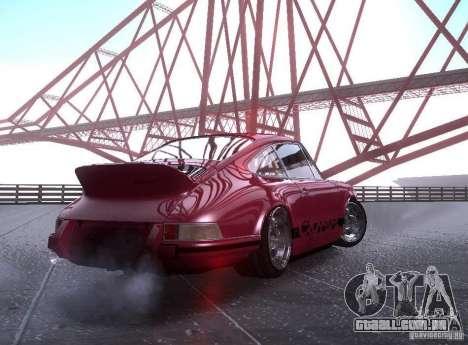 Porsche Carrera RS para GTA San Andreas esquerda vista