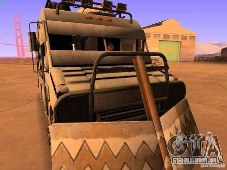 Monster Van para GTA San Andreas vista traseira