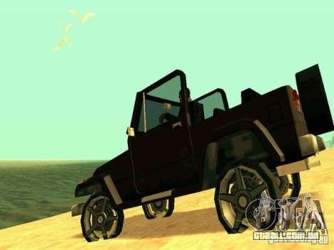 Mesa From Beta Version para GTA San Andreas traseira esquerda vista