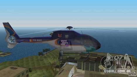 Eurocopter Ec-120 Colibri para GTA Vice City vista traseira esquerda