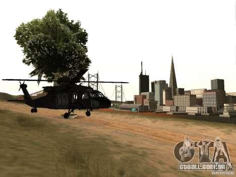 O helicóptero de CoD 4 MW para GTA San Andreas vista direita