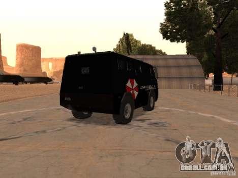 AM 7.0 Umbrella Corporation para GTA San Andreas vista direita