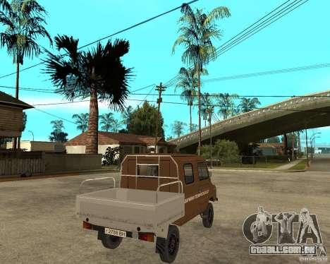LuAZ-13021-04 para GTA San Andreas traseira esquerda vista