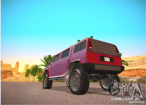 Patriota do GTA 4 para GTA San Andreas vista direita