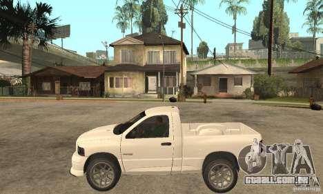 Dodge Ram SRT 10 para GTA San Andreas esquerda vista