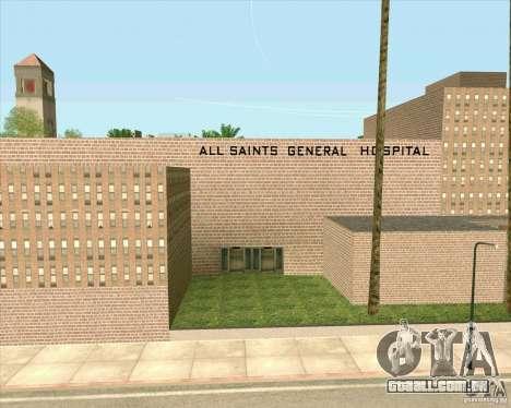 Novas texturas, Hospital Geral de todos os Santo para GTA San Andreas sexta tela