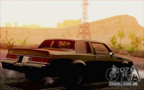 Buick GNX 1987 para GTA San Andreas vista superior