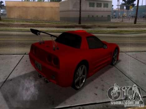 Chevrolet Corvette C5 para GTA San Andreas vista traseira