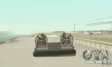 Landing Craft Air Cushion para GTA San Andreas traseira esquerda vista