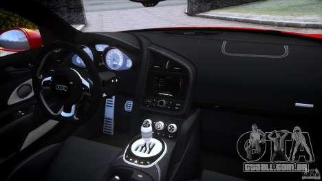 Audi R8 V10 para GTA 4 vista superior