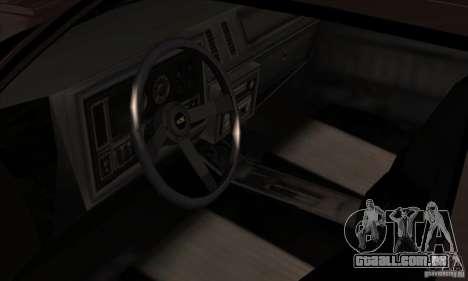 Buick Regal GNX 1987 para GTA San Andreas vista traseira