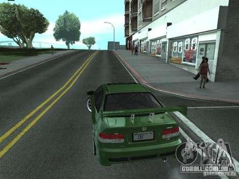 Honda Civic Si Sporty para GTA San Andreas esquerda vista