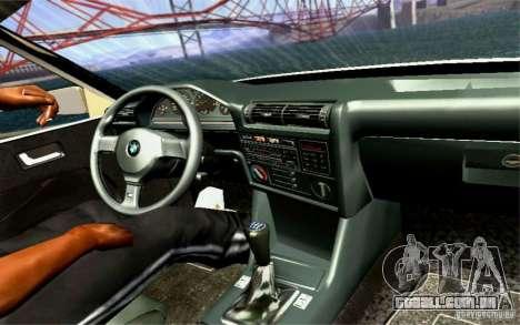 BMW E30 M3 Cabrio para GTA San Andreas vista superior