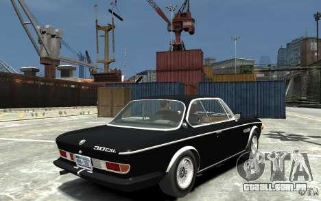 BMW 3.0 CSL E9 1971 para GTA 4 vista direita
