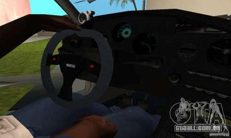 Toyota Supra TRD para GTA San Andreas vista traseira