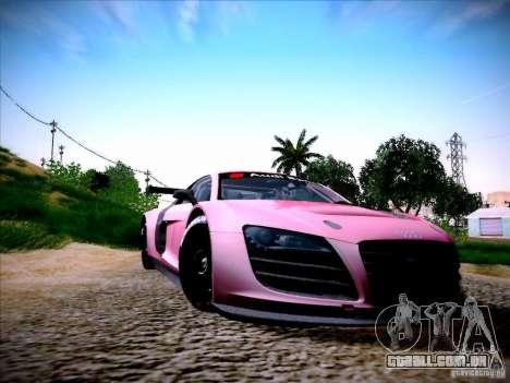 Audi R8 LMS v2.0 para GTA San Andreas esquerda vista