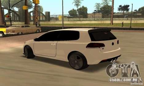 Volkswagen Golf R Modifiye para GTA San Andreas vista direita