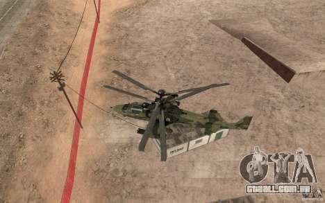 Ka-52 Alligator para GTA San Andreas vista traseira
