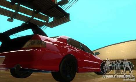 Mitsubishi Lancer Evolution IX Carbon V1.0 para GTA San Andreas vista direita