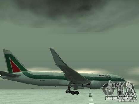 Boeing 767-300 Alitalia para GTA San Andreas vista inferior