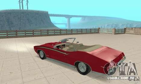 Pontiac GTO The Judge Cabriolet para GTA San Andreas vista traseira