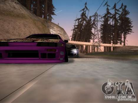 Nissan Silvia S13 Team Burst para GTA San Andreas vista inferior
