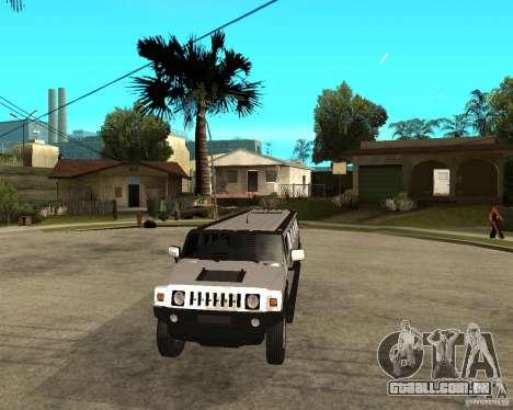 AMG H2 HUMMER 4x4 Limusine para GTA San Andreas vista traseira
