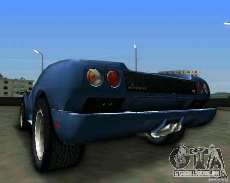 Lamborghini Diablo para GTA Vice City vista traseira