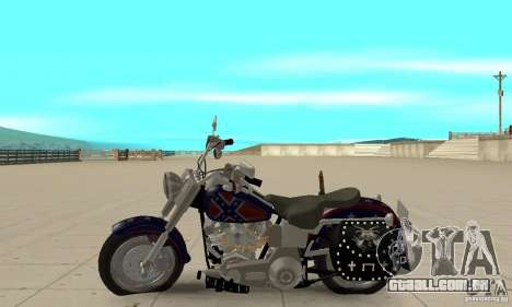 Harley Davidson FLSTF (Fat Boy) v2.0 Skin 4 para GTA San Andreas esquerda vista