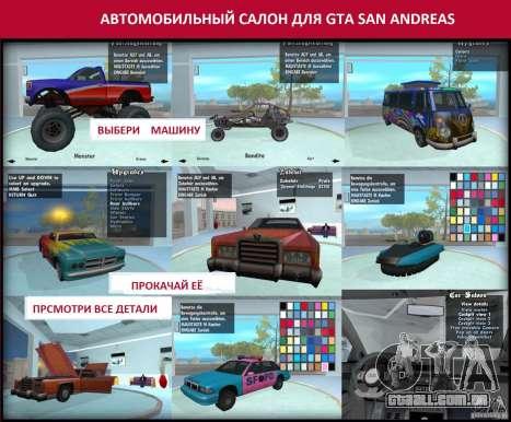 Salão do automóvel para GTA San Andreas