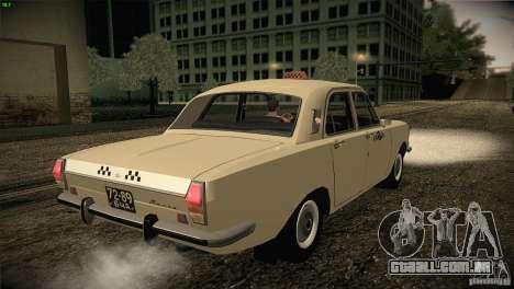 GAZ-24 Volga táxi 01 para GTA San Andreas vista direita