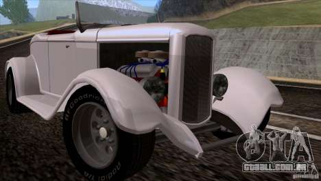 Ford Roadster 1932 para GTA San Andreas esquerda vista