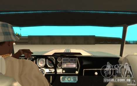 Chevrolet El Camino 1972 para GTA San Andreas vista traseira