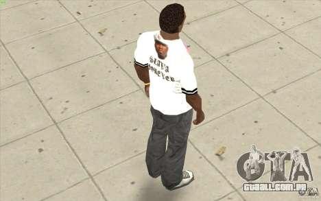 T-shirt: Exuberante Slavik para GTA San Andreas por diante tela