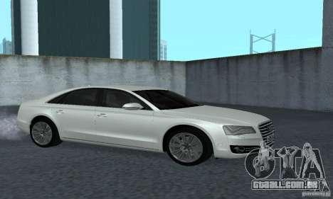 Audi A8 para GTA San Andreas vista traseira