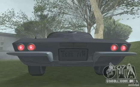 Chevrolet Corvette 427 para GTA San Andreas vista traseira