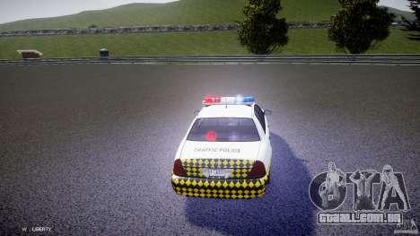 Ford Crown Victoria Karachi Traffic Police para GTA 4 vista lateral