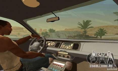 Ford Crown Victoria Wisconsin Police para GTA San Andreas traseira esquerda vista