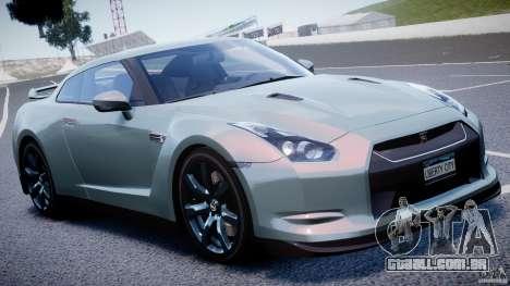 Nissan GT-R R35 2010 v1.3 para GTA 4 vista superior