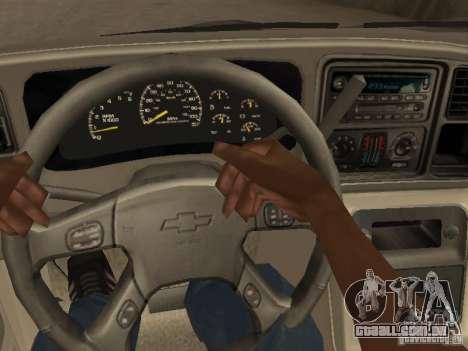 Chevrolet Suburban 2003 para vista lateral GTA San Andreas