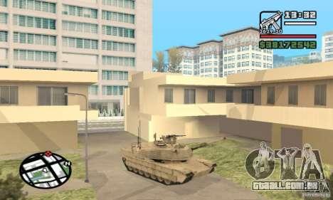 M1A2 Abrams TUSK para GTA San Andreas esquerda vista
