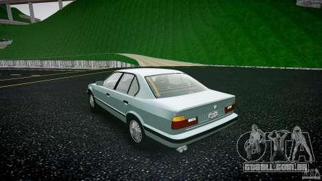 BMW 535i E34 para GTA 4 traseira esquerda vista